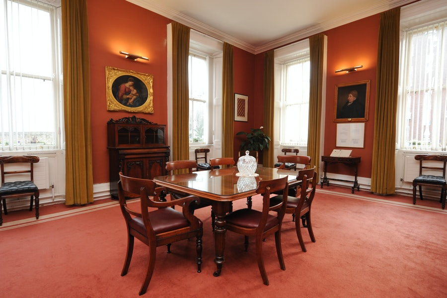 The Callaghan Room, named for William Callagham, Catherine's principal benefactor