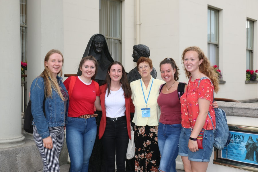 Pilgrim group from Mount St Michael's School Rosscarberry