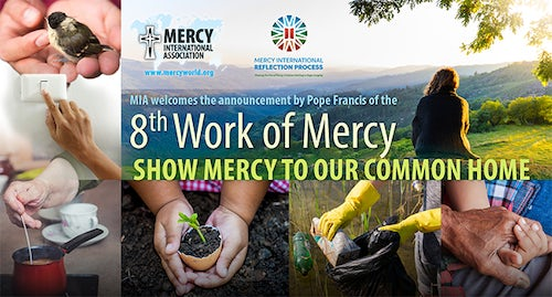 Mini Posters of the 8th Work of Mercy: 'Show Mercy to our Common Home' Available Here Now