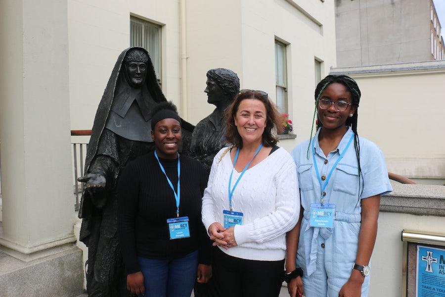 Pilgrim group fromSt Vincent's Secondary School Dundalk