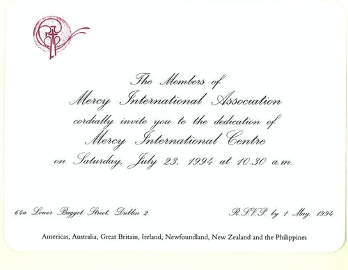 This Was the Day: Opening of Mercy International Centre, 23 July 1994