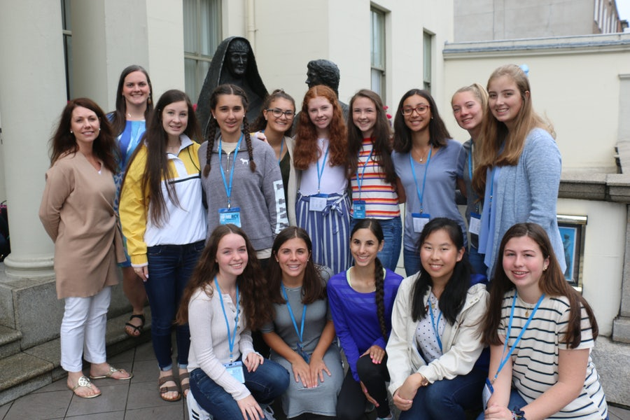 Pilgrim group from Our Lady of Mercy Academy Syosset New York