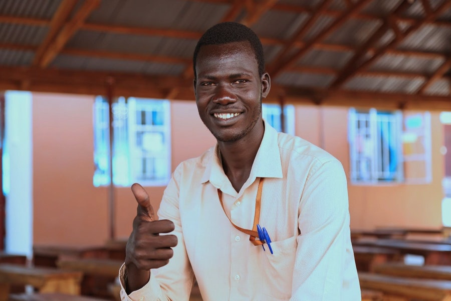John Dau, 30 years old, from Abyei, current student, Solidarity Teachers Training College, Yambio, South Sudan