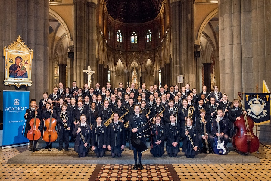 A joyous celebration at St Patrick's Cathedral for the Academy of Mary Immaculate Fitzroy, Victoria, Australia Community <br>Mercy Day 2019