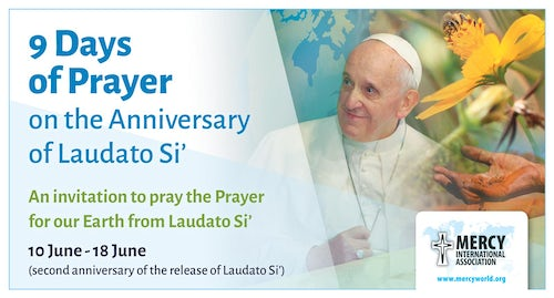 Invitation: Join Us in 9  Days of Prayer to Celebrate the 2nd Anniversary of the Release of  Laudato Si'