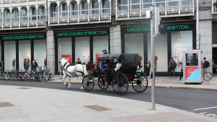 Coach Ride past Stephen's Green Shopping Centre