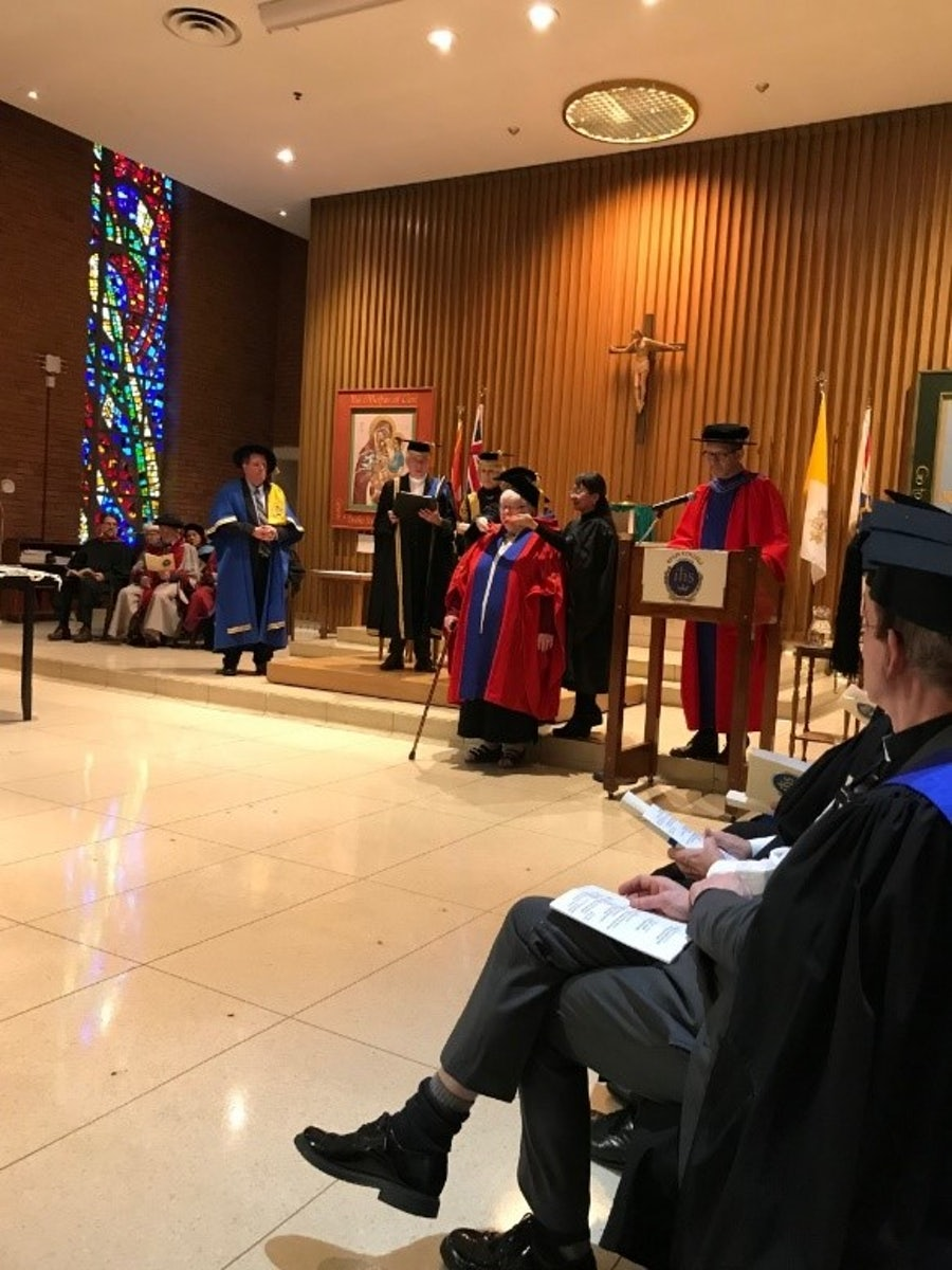 Conferring of degree and regalia of Doctor of Theology