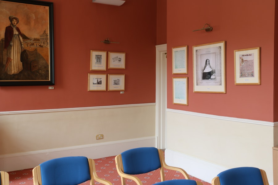 A view of the Doyle room, named after Mary Ann Doyle whose portrait hangs here