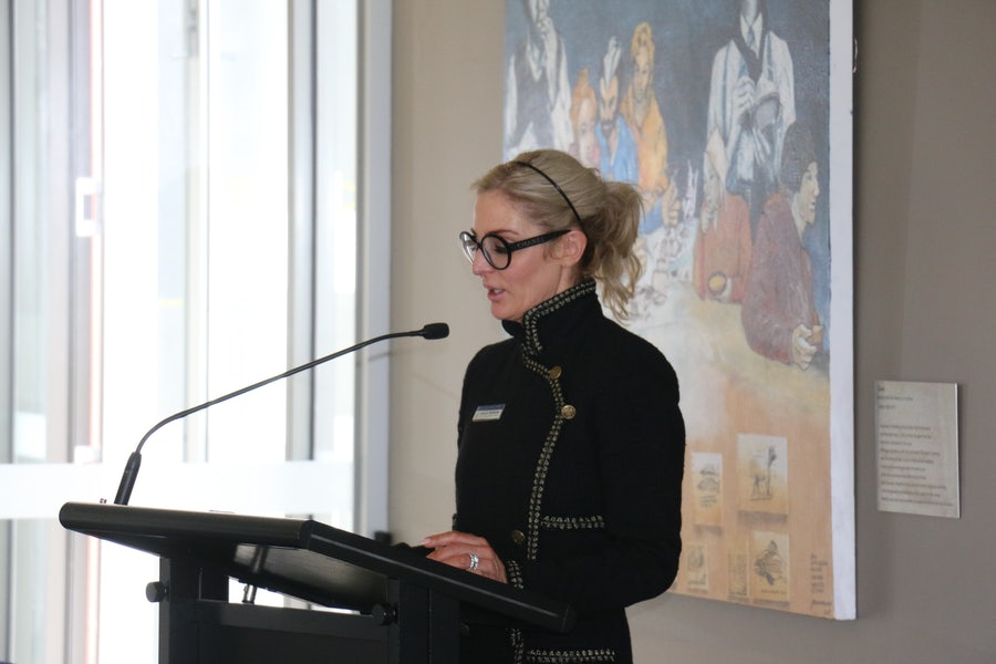 Catherine Middlemiss reading one of M. Xavier's letters