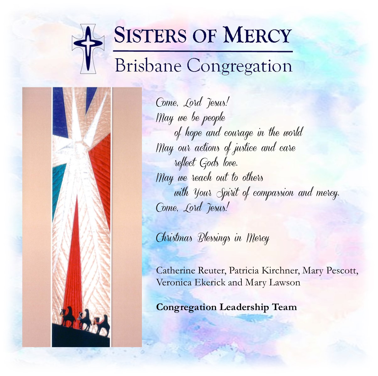 Mercy world to each of you in the community of mercy at christmas time and always may the love of our god of mercy surround you and your loved ones jane bower kristyandbryce Images