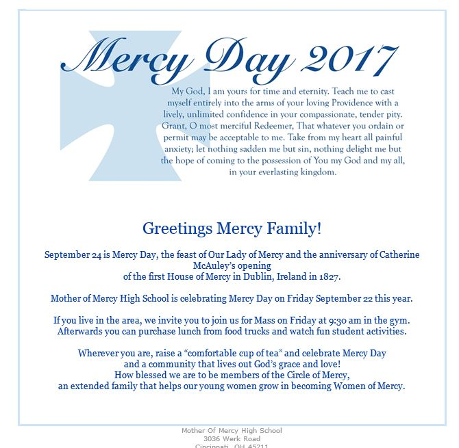 Mercy day greetings 2017 5 mercy world mercy day greetings from the saint josephs college community m4hsunfo