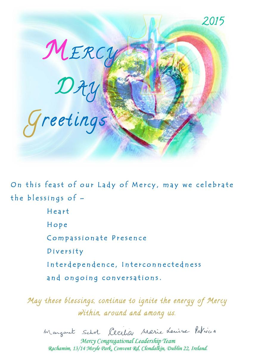 Sharing Mercy Day Greetings With One Another 1 Mercy World