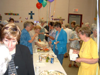 Sisters celebrating